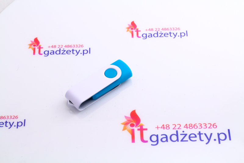 Turkusowy pendrive twister, 16GB