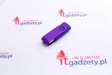 Fioletowy pendrive twister, 1GB