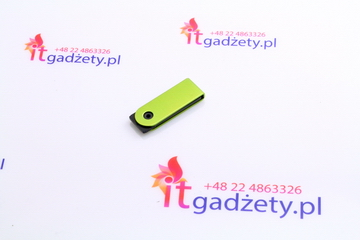 Mini flash usb w zielonym kolorze do graweru logo