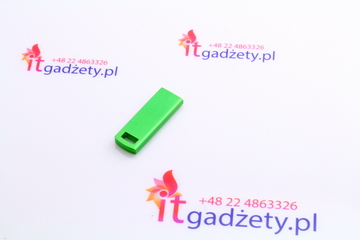Zielony pendrive slim pod grawer